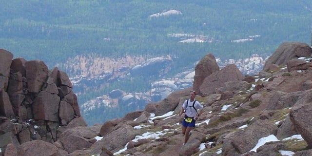 The author running the Pikes Peak Marathon (Photo courtesy of the author)