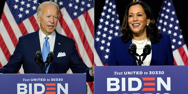 The presumptive Democratic president nominated Joe Biden and Sen.  Kamala Harris, D-California, Speaks a Campaign Event at Alexis Dupont High School in Wilmington, Del., Wednesday, August 12, 2020. (AP Photo / Carolyn Kaster)