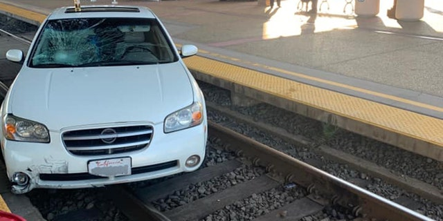 A man was transported to an area hospital after being struck by a vehicle while on a train station platform in Suisun City, Calif., on Saturday
