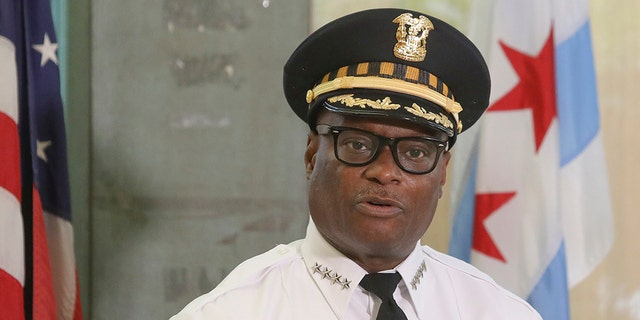 Chicago Police Superintendent David Brown speaks in Chicago, July 27, 2020.(Associated Press)