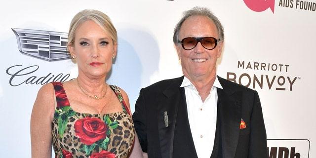 Margaret Fonda (L) and Peter Fonda (R) in February 24, 2019.