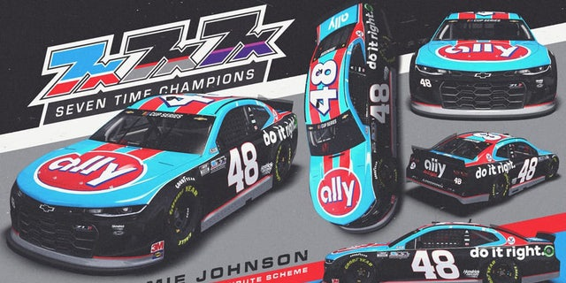 Hendrick Motorsports honors Jimmie Johnson with Southern 500 schemes