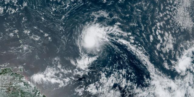 Tropical Storm Josephine swirls over the Atlantic Ocean on Thursday, Aug. 13, 2020.