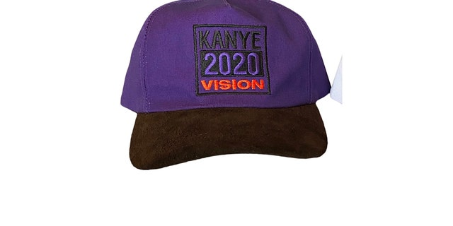 One item of thecampaign-approved clothing is ablue and black baseball cap, pictured.