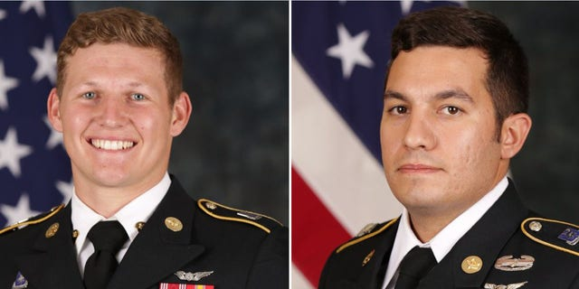 Sgt. Tyler Shelton, 22, left, and Staff Sgt. Vincent Marketta, 33, were Black Hawk repairers with the160th Special Operations Aviation Regiment (Airborne).