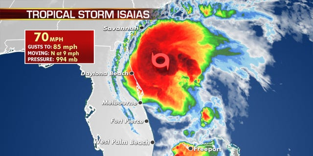 Isaias is forecast to become a hurricane once again before making landfall in the Carolinas.