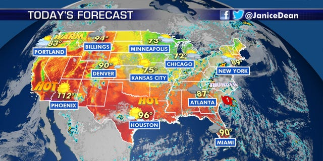 The national forecast for August 3, 2020.
