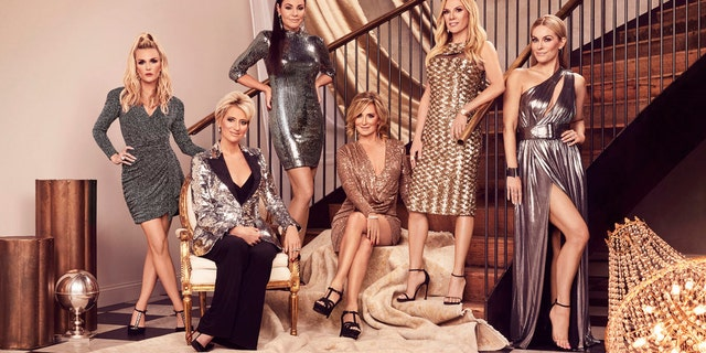 """Real Housewives of New York"" Season 12 cast, from left: Tinsley Mortimer, Dorinda Medley, Luann de Lesseps, Sonja Morgan, Ramona Singer and Leah McSweeney. (Photo by Sophy Holland/Bravo)"