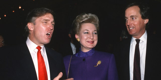 ATLANTIC CITY, NJ - APRIL 1990: Donald Trump with sister Maryanne Trump Barry and brother Robert Trump attend the Trump Taj Mahal opening April 1990 in Atlantic City, New Jersey. (Getty Images)