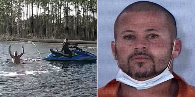 A deputy caught Hunter while chasing after the fugitive on a Jet Ski.