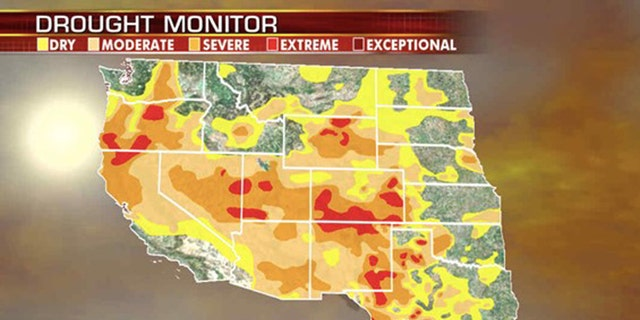 Drought conditions out west are increasing the risk of wildfires.