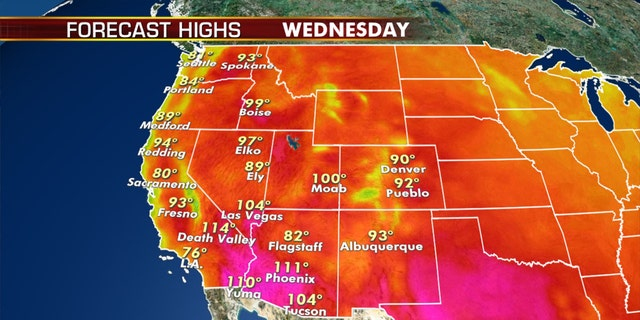 More dangerous heat is in the forecast for the West and Southwest on Tuesday.