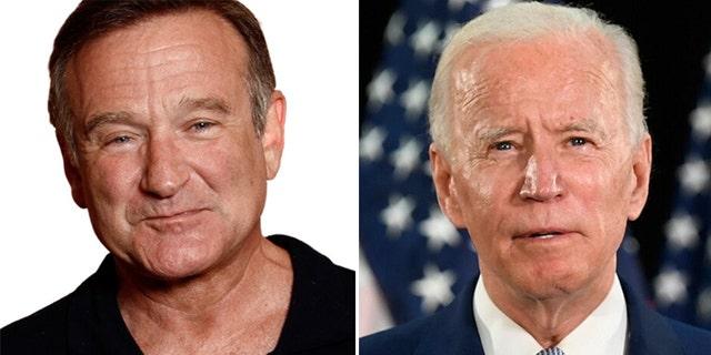 An old clip of Robin Williams poking fun at Joe Biden went viral on social media this week.