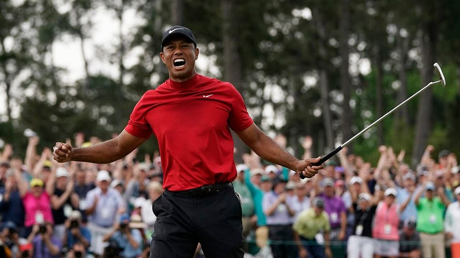Tiger Woods at the Masters golf tournament