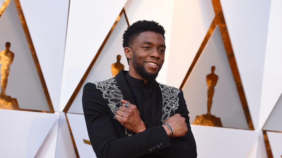 'Black Panther' stars join Chadwick Boseman's wife for private memorial