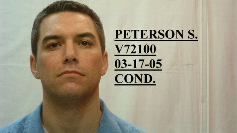 斯科特·彼得森(Scott Peterson)在加利福尼亚法院听证会上讲话; 放弃快速审判, 一月开庭日期设定