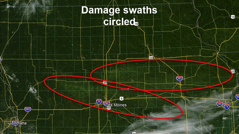 Two dead after powerful derecho strikes Midwest