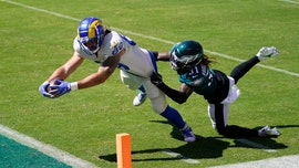 Goff tosses 3 TD passes to Higbee, Rams beat Eagles 37-19