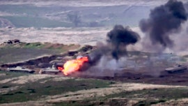 Azerbaijan, Armenia fight over disputed region as tanks destroyed, helicopters shot down