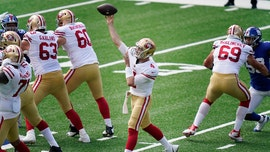 49ers' Nick Mullens explains why he fixes the toppled-over pylon