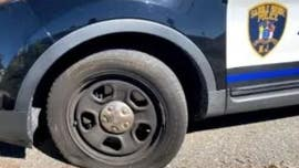 Man slashed police car tires, left hand-written note: 'F--- Police, F--- Trump, Vote Jesus,' cops say