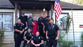 Utah police replace woman's American flag after she breaks it while fighting off home intruder