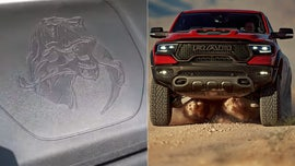 Ram 1500 TRX monster pickup features raptor-eating imagery to poke at Ford