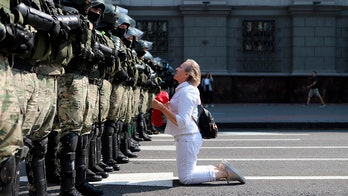Belarusian student protesters targeted by masked men