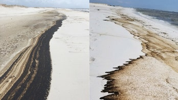 Florida beach sees oil wash ashore in wake of Hurricane Sally