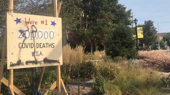 'Coronavirus Death Scoreboard' vandalized, Illinois town decides not to remove anti-Trump display