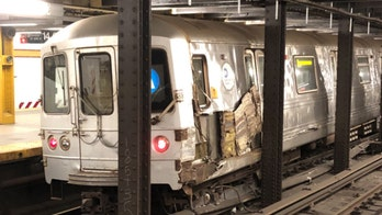NYC subway train derails after striking 'debris' on tracks, suspect identified by police