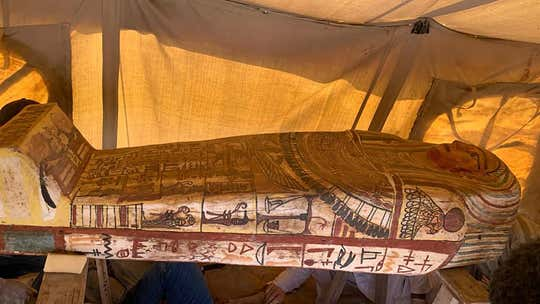 More than two dozen 2,500-year-old sarcophagi discovered at ancient site in Egypt