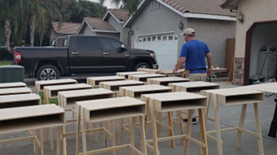 California man builds dozens of desks to support virtual learning for students in need