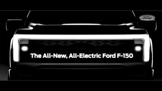 Here's what the electric Ford F-150 looks like