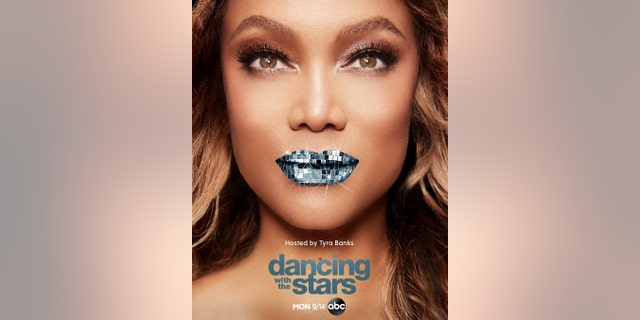 Tom Bergeron mocked this new promotional image of Tyra Banks for the upcoming season of 'Dancing with the Stars.'