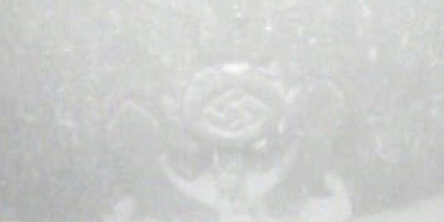 An undersea drone captured an image of the Nazi symbol. (Statnett/Isurvey)