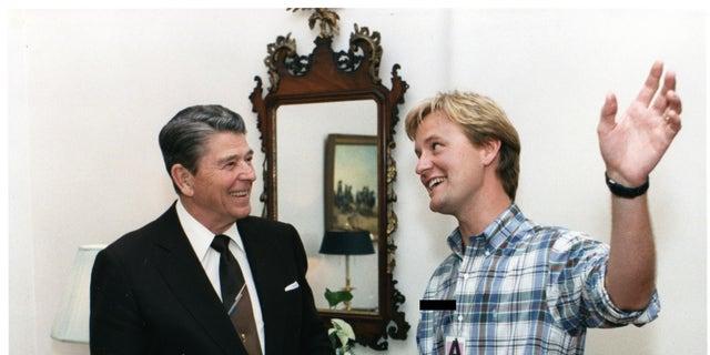 Ronald Reagan and Steve Doocy.