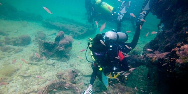 The wreck was discovered in 2017. (Photo by Helena Barba/INAH)