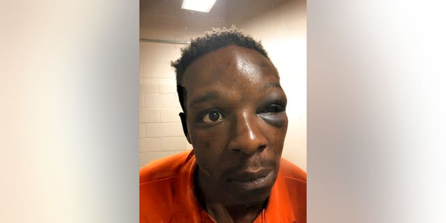 This Saturday, Sept. 12, 2020 photo provided by The Cochran Firm shows Roderick Walker at the Clayton County Jail in Jonesboro, Ga.
