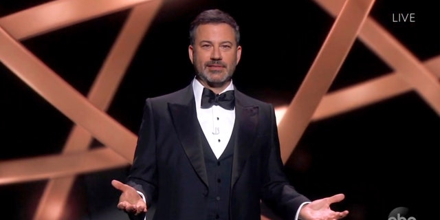 The 72nd Virtual Emmy Awards hosted by Jimmy Kimmel on ABC drew 6.1 million viewers, a 20% decrease from last year's unhosted version.  (The Television Academy and ABC Entertainment via AP)