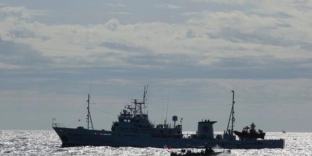 South Korea's government ships are seen near Yeonpyeong island, South Korea, Friday, Sept. 25, 2020. (Associated Press)