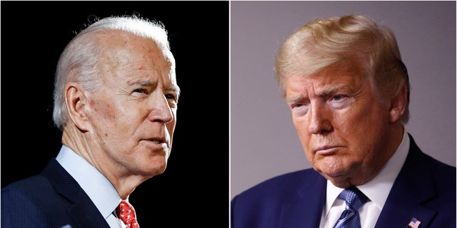 Former Vice President Joe Biden and President Trump will square off in their first presidential debate, 화요일, 씨족. 29, 2020. (AP Photo/File)