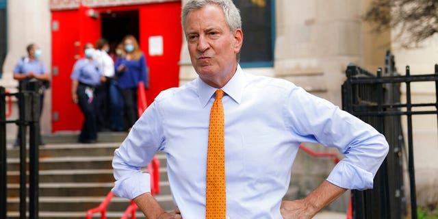 New York Mayor Bill de Blasio addresses the media in New York. (AP Photo/John Minchillo, File)