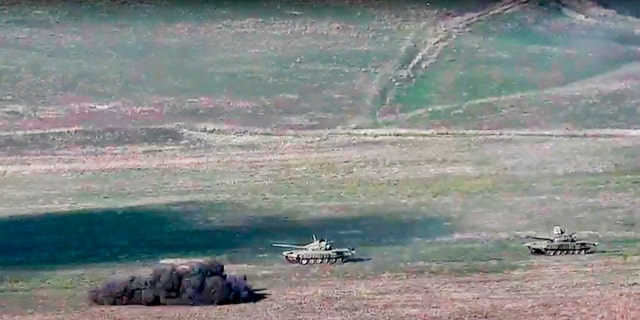 Fighting between Armenia and Azerbaijan has broken out around the separatist region of Nagorno-Karabakh and the Armenian Defense Ministry said that two Azerbaijani helicopters have been shot down.
