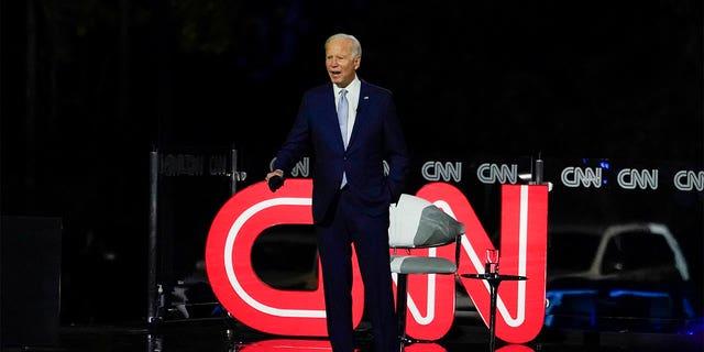 CNN has been hemorrhaging viewers since President Biden took office. (AP Photo/Carolyn Kaster)