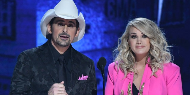 Brad Paisley and Carrie Underwood at