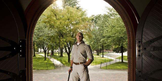 Rep. Brian Mast in Harvard Yard