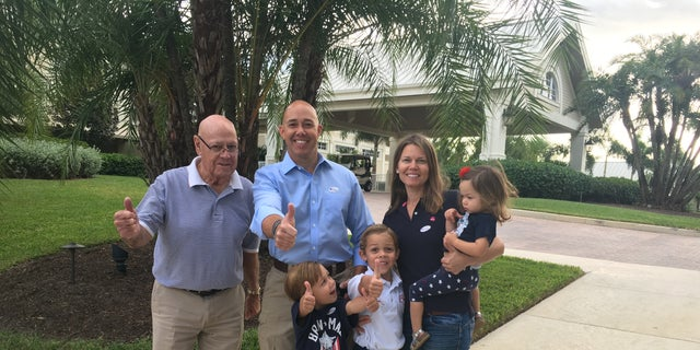 Rep. Brian Mast with his father and his family