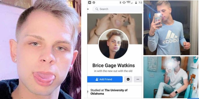 Brice Gage Watkins may have been in the Oklahoma City area as of Tuesday afternoon, and he has ties to Norman and Enid, authorities said. (Oklahoma City Police Department)