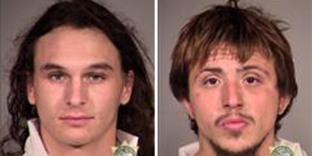 From left to right: Cyan Waters Bass, Joseph Robert Sipe (Multnomah County Sheriff's Office